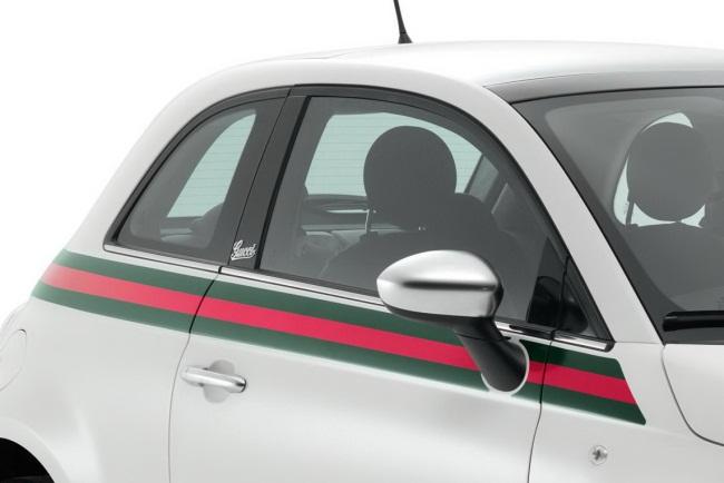 Speciali Gucci dizainerių kurta Fiat 500 versija Autoledi.lt af9c7fe726b